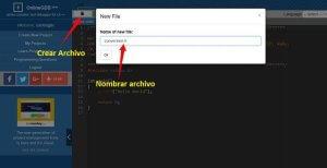Crea un nuevo archivo (Clic para ampliar)