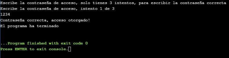 Uso de contadores en C++