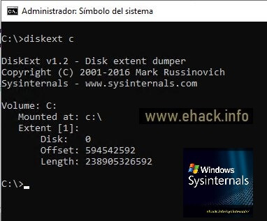DiskExt de SysInternals